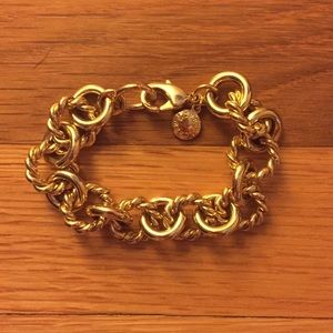 J. Crew Gold Plated Chain Link Bracelet